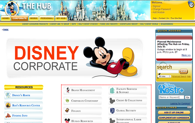 Disney Hub Logins