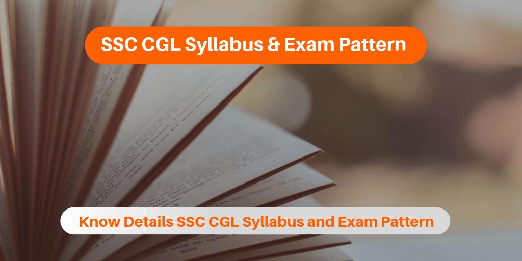 SSC CGL Syllabus Exam Pattern